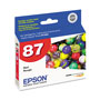 Epson T087720 Inkjet Cartridge, Red
