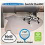 E.S. Robbins Anchormat Chair Mat for Medium Pile Carpets, 66w x 60l, Clear