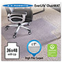 E.S. Robbins Anchormat Chair Mat for Plush Pile Carpets, 36w x 48l, Clear