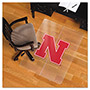 E.S. Robbins Collegiate Chair Mat for Hard Floors, 48 x 36, Nebraska Cornhuskers
