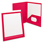 Oxford ViewFolio Polypropylene Portfolio, 50-Sheet Capacity, Red/Clear