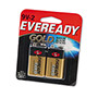 Energizer Gold A522BP-2 Alkaline Batteries, 9V