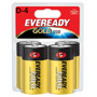 Energizer Gold A95BP-4 Alkaline Batteries, D
