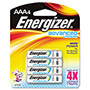 Energizer EA92BP4 Advanced Lithium Batteries, AAA