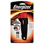 Energizer Rubber LED Light, Small, 11 Lumens, Black/Red