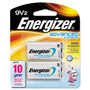Energizer Advanced Lithium Batteries, 9V, 2/Pack