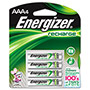 Energizer NH12BP-4 Rechargeable Batteries, AAA