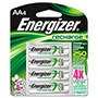 Energizer NH15BP-4 NiMH Rechargeable Batteries, AA