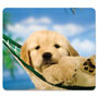 Fellowes Recycled Mouse Pad, Nonskid Base, 7-1/2 x 9, Puppy in Hammock