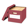 Fellowes Stor/File Decorative Storage Boxes, Letter/Legal, 12 x 15 x 10, Red