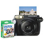 Fuji Instax 210 Wide Camera Bundle, Close-up Lens, Auto Focus, Black