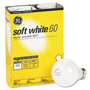 GE General Purpose Soft White Incandescent Bulbs, 60 Watts, 4 Bulbs per Pack