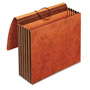 Cardinal Heavy-Duty Expanding Wallets, Straight Cut, 1 Pocket, Letter, Brown