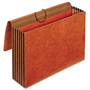 Cardinal Heavy-Duty Expanding Wallets, Straight Cut, 1 Pocket, Legal, Brown