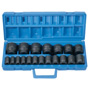 "Grey Pneumatic 19 Piece 1/2"" Drive Fractional Master Impact Socket Set"