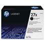 HP 27X Black Toner Cartridge, Model C4127X, Page Yield 10000