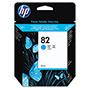 HP 82 Cyan Ink Cartridge ,Model C4911A ,Page Yield 1400