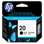 HP 20 Black Inkjet Cartridge, Model C6614D, 500PGS Page Yield