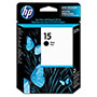 HP 15 Black Inkjet Cartridge, Model C6615DN, 603PGS Page Yield