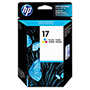 HP 17 Cyan / Magenta / Yellow Inkjet Cartridge, Model C6625A, 410PGS Page Yield