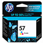 HP 57 Cyan / Magenta / Yellow Inkjet Cartridge, Model C6657AN, 400PGS Page Yield