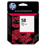 HP 58 Cyan / Magenta / Yellow Inkjet Cartridge, Model C6658AN, 140PGS Page Yield