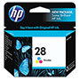 HP 28 Cyan/Magenta/Yellow Ink Cartridge ,Model C8728AN ,Page Yield 190