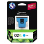 HP 02XL Cyan Ink Cartridge ,Model C8730WN ,Page Yield 600