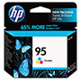 HP 95 Cyan / Magenta / Yellow Inkjet Cartridge, Model C8766WN, 330PGS Page Yield