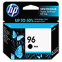 HP 96 Black Inkjet Cartridge, Model C8767WN, 860PGS Page Yield