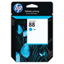 HP 88 Cyan Ink Cartridge ,Model C9386AN ,Page Yield 860