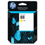 HP 88 Yellow Ink Cartridge ,Model C9388AN ,Page Yield 860