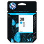 HP 38 Cyan Ink Cartridge ,Model C9415A ,Page Yield 2200