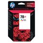 HP 78 Cyan / Magenta / Yellow Inkjet Cartridge, Model CB277AN, 560PGS Page Yield