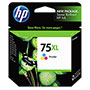 HP 75Xl Cyan/Magenta/Yellow Ink Cartridge ,Model CB338WN ,Page Yield 860