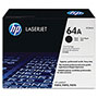 HP 64A Black Toner Cartridge, Model CC364A, Page Yield 10000