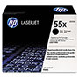 HP 55X Black Toner Cartridge, Model CE255X, Page Yield 12500