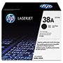 HP 38A Black Toner Cartridge, Model Q1338A, Page Yield 12000