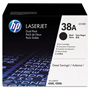 HP 38A Black Toner Cartridge, Model Q1338D, Page Yield 2x12,000