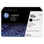 HP 10A Black Toner Cartridge, Model Q2610D, Page Yield 2x6,000