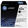 HP 42A Black Toner Cartridge, Model Q5942A, Page Yield 10000