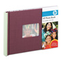 HP Expandable Photo Book, 25 Pages, 5 1/2 x 7 1/2, Plum/Sage, Cloth Cover