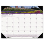 House Of Doolittle Recycled Gardens of the World Photo Monthly Desk Pad Calendar, 18 1/2 x 13, 2017
