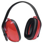 Honeywell QM24+ Three-Position Earmuffs, 24NRR, Red/Black