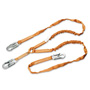 Honeywell Tubular Double-Legged Lanyard, 6', Orange