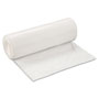 Inteplast Low-Density Can Liner, 38 x 58, 60-Gallon, .70 Mil, White, 25/Roll