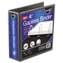 "Ideastream Gapless 4"" View Binder, Black"
