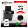 Innovera Replacement Ink Jet Cartridge, Replaces Brother LC41BK, Black