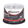 Innovera DVD-R Recordable Discs On Spindle, 4.7 GB, Silver