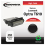 Innovera Black High-Yield Toner Cartridge for Lexmark Optra T610, 612, 614, 616